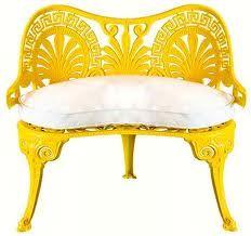 Yellow patio furniture