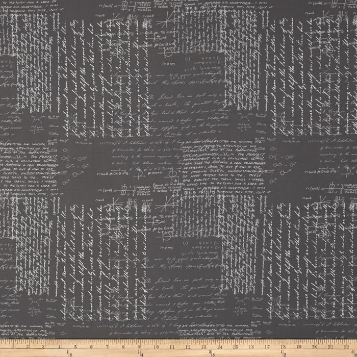 Moda Modern Background Ink Notes Graphite from @fabricdotcom  Designed by Zen Chic for Moda, this cotton print is perfect for quilting, apparel and home decor accents. Colors include graphite and light grey.