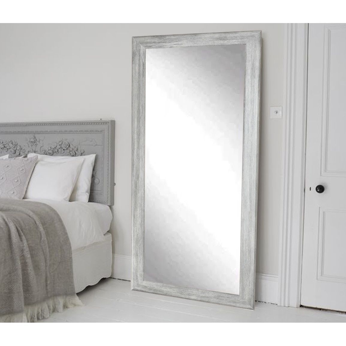 The Gray Barn Wilset Weathered Grey Floor Mirror Floor Mirror White Floor Mirror Leaning Floor Mirror