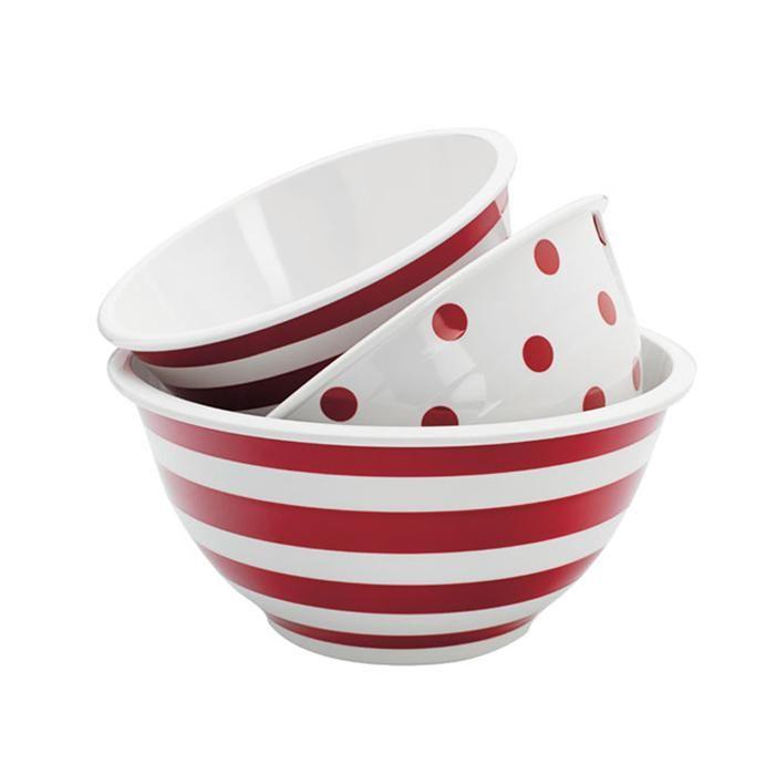 3 Pc. Decorated Melamine Mixing Bowl Set | Nebraska Furniture Mart