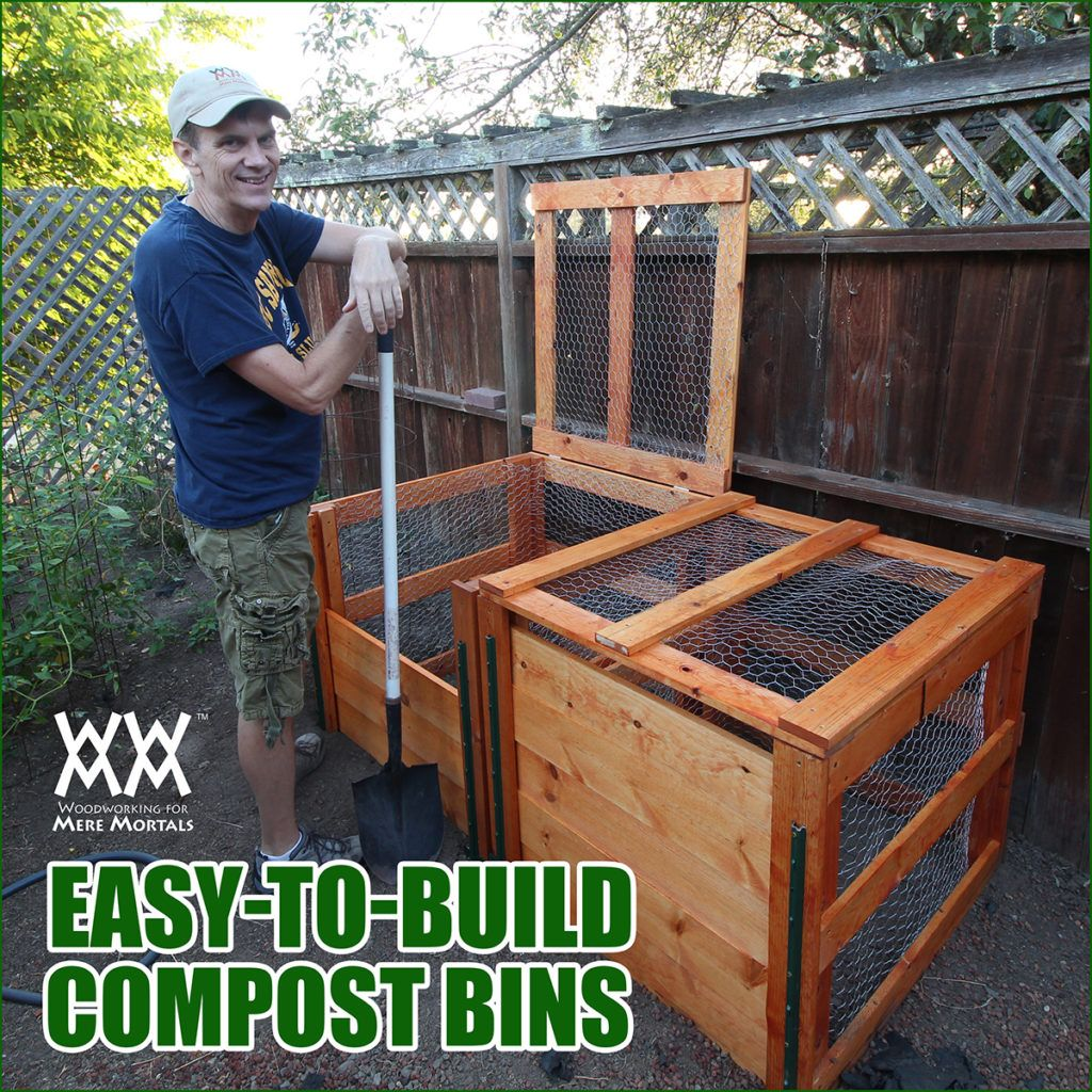 how to make a compost bin diy woodworking projects pinterest