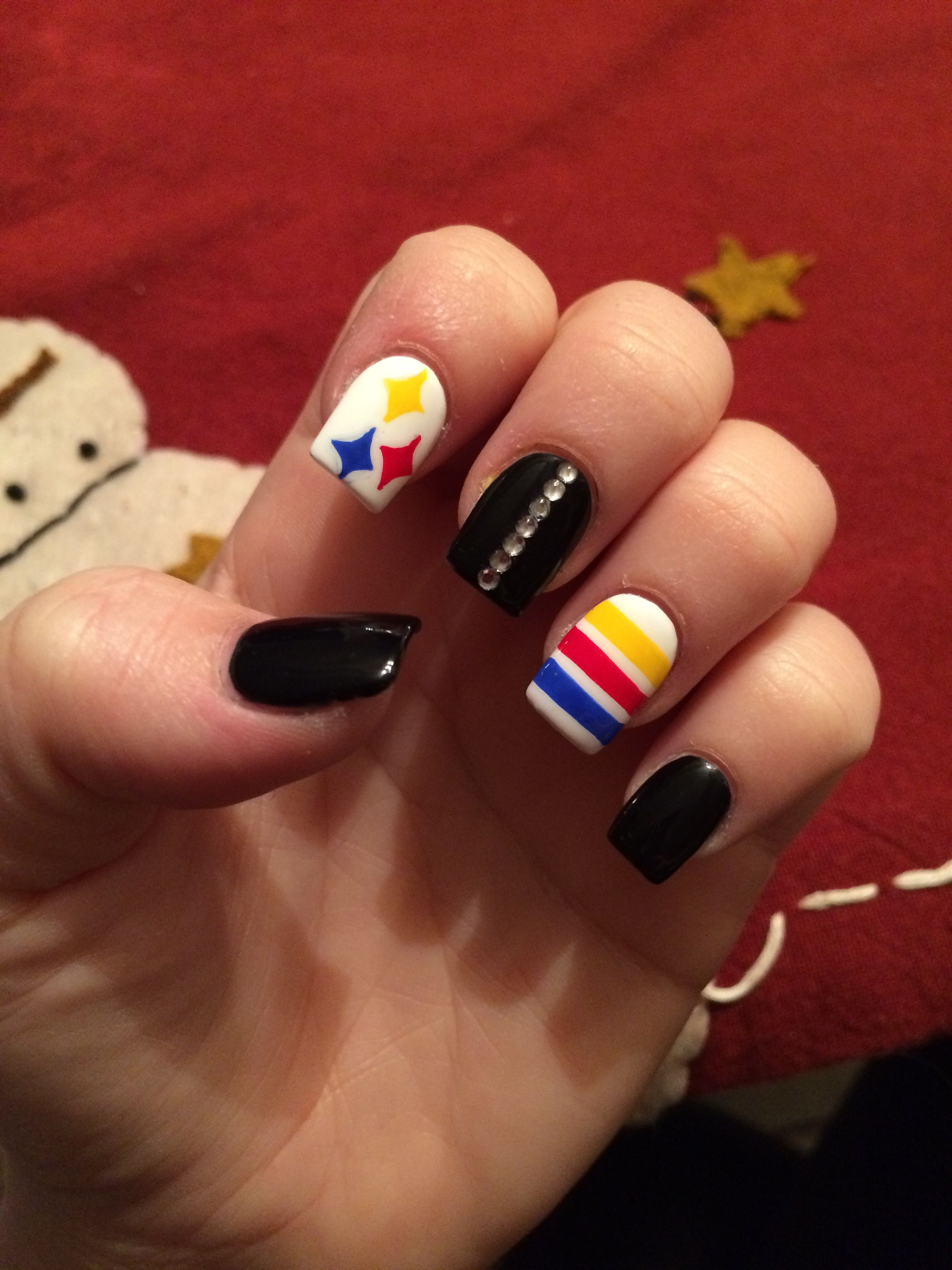Pittsburgh nails steelers nails black and gold nails pittsburgh nails steelers nails black and gold prinsesfo Choice Image