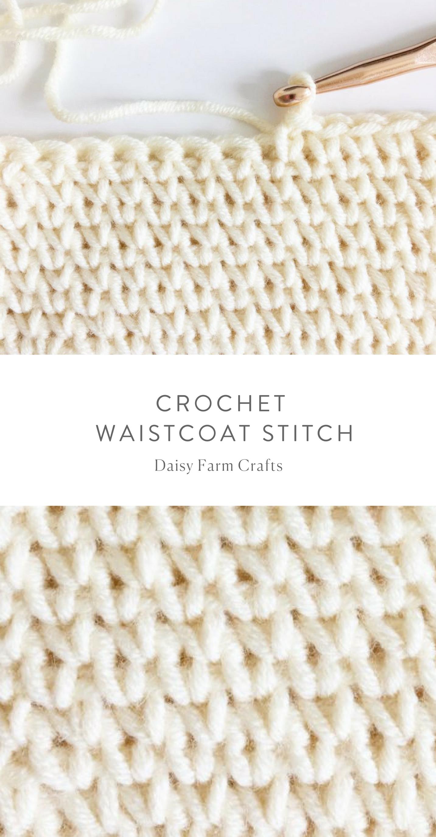 How to crochet the waistcoat stitch - #crochet | crochet technique ...