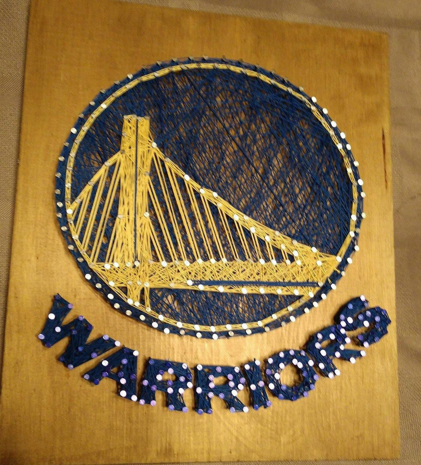 Golden State Warriors String Art By Bornagainboutiqueco On Etsy