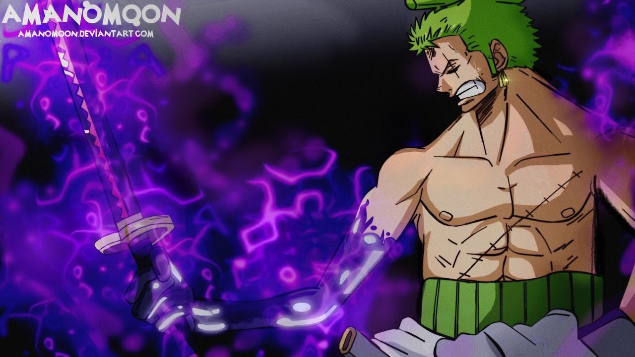 Roronoa Zoro Usando La Espada Enma One Piece Capitulo 955 Manga In 2020 One Piece Chapter Zoro One Piece Manga
