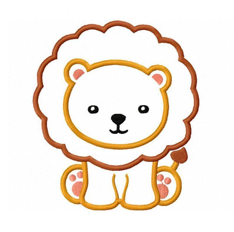Lion Baby Applique Machine Embroidery Design No 0161 Etsy Animal Embroidery Designs Baby Applique Machine Embroidery Designs