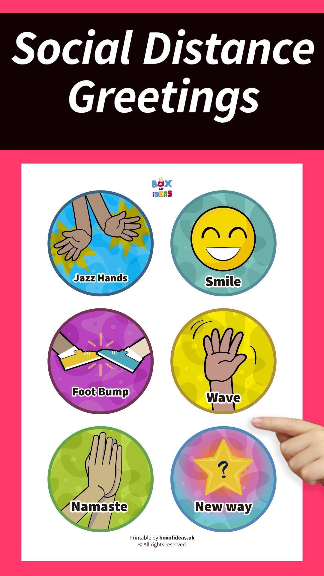 Social Distancing Good Morning Greetings For Kids Video Kindergarten Classroom Classroom Posters Preschool Learning Activities