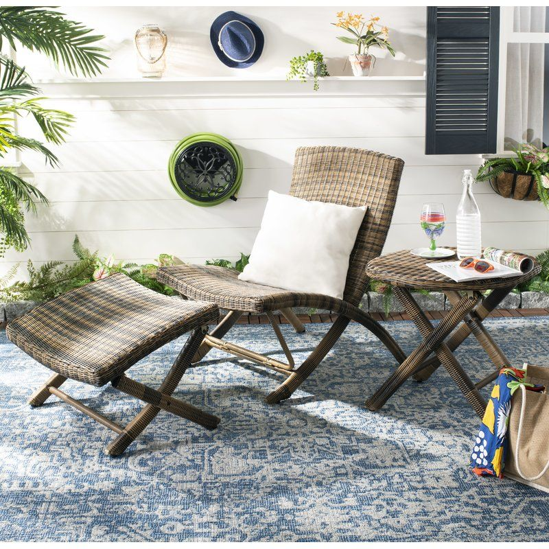 Kingpalm patio chair with ottoman lounge chair outdoor
