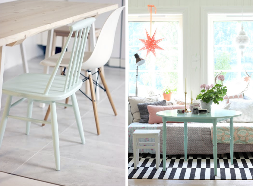 d co vert menthe d 39 eau id es inspirations chaise table de. Black Bedroom Furniture Sets. Home Design Ideas