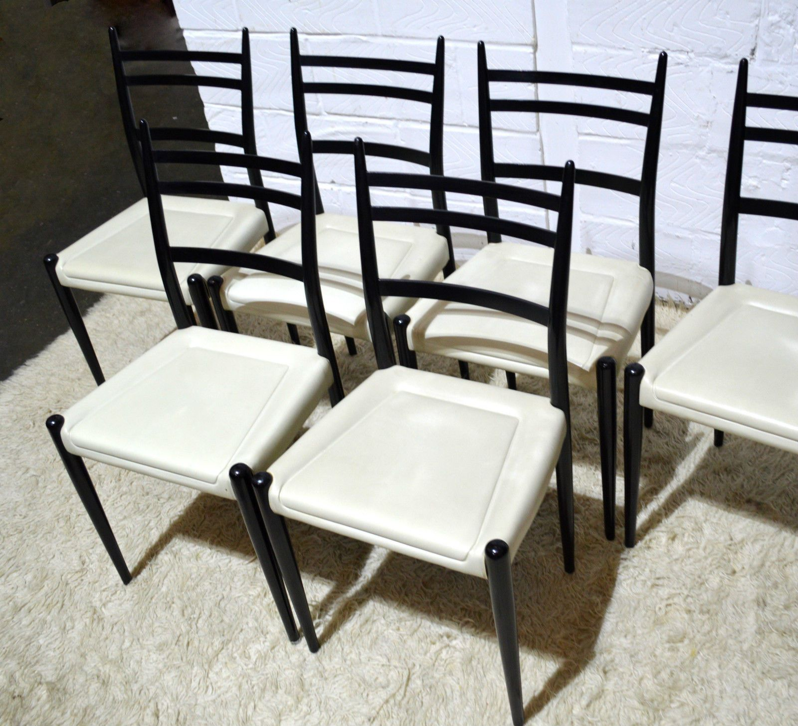 High Quality STUNNING 50S 60S MID CENTURY G PLAN LIBRENZA DINING CHAIRS X6 GIO PONTI  STYLE In Antiques
