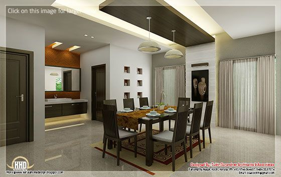 Kitchen And Dining Interiors Home Hall Design Beautiful Houses