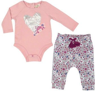 Jessica Simpson Baby Clothes Endearing Jessica Simpson Bodysuit And Pants Set  When A Baby Comes Design Ideas