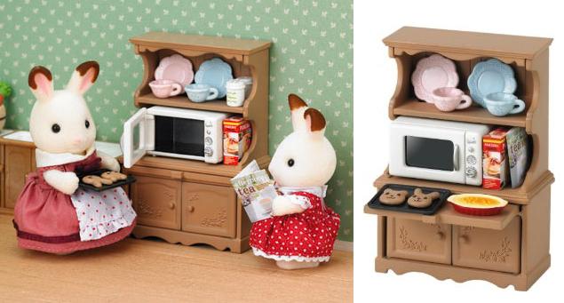 Sylvanian Families 3561 Kast met oven - Cupboard with oven