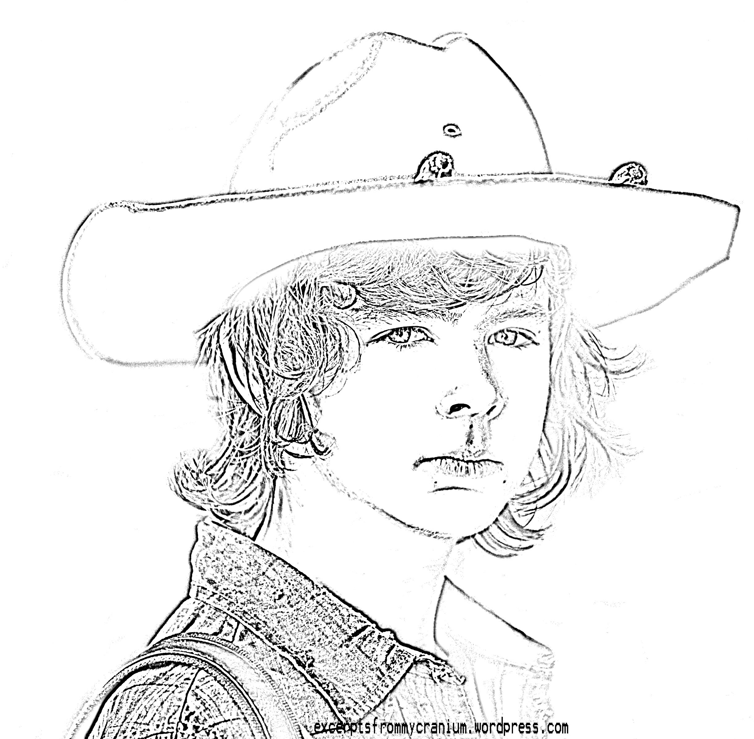 Walking Dead Carl Coloring Pages