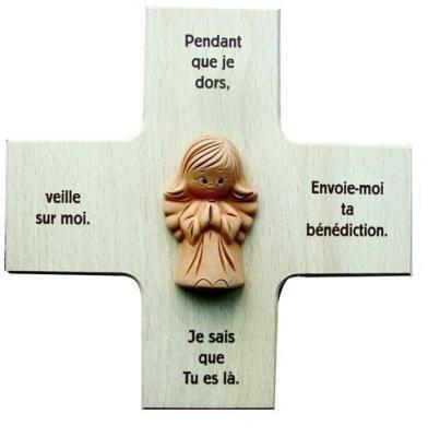 Vosarea Croix Latine en Bois Croix chr/étienne catholique en Bois pour d/écoration int/érieure