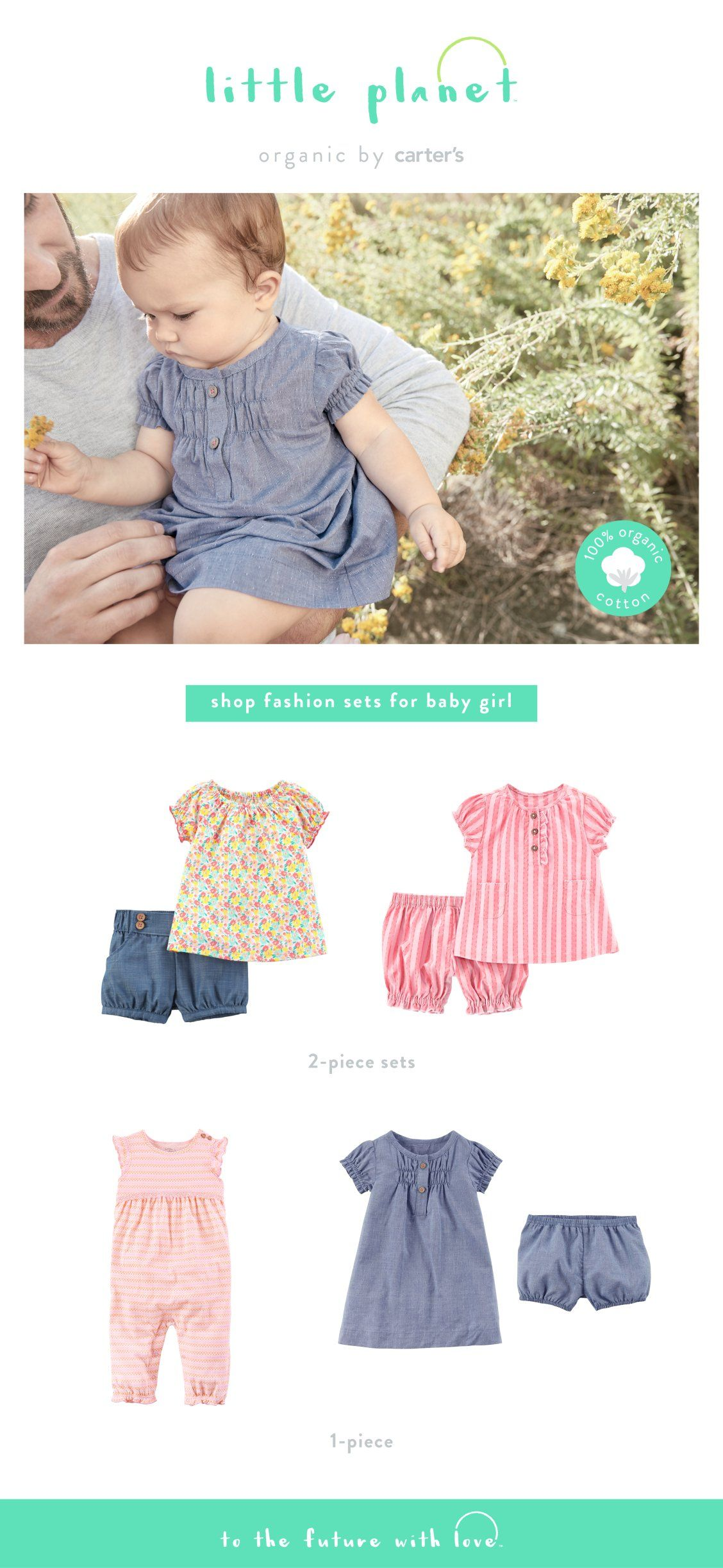 1069aae18 Shop baby girl easy outfit sets in 100% organic cotton.