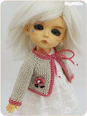 knitted jacket (_vasilka_) Tags: doll handmade crochet knit clothes jacket jaime latiyellow pukifee