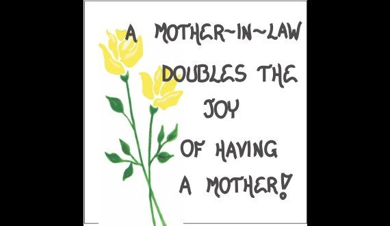 Mother In Law Magnet   Quote For Mom Of Spouse, Yellow Flower, Green Leaf  Design