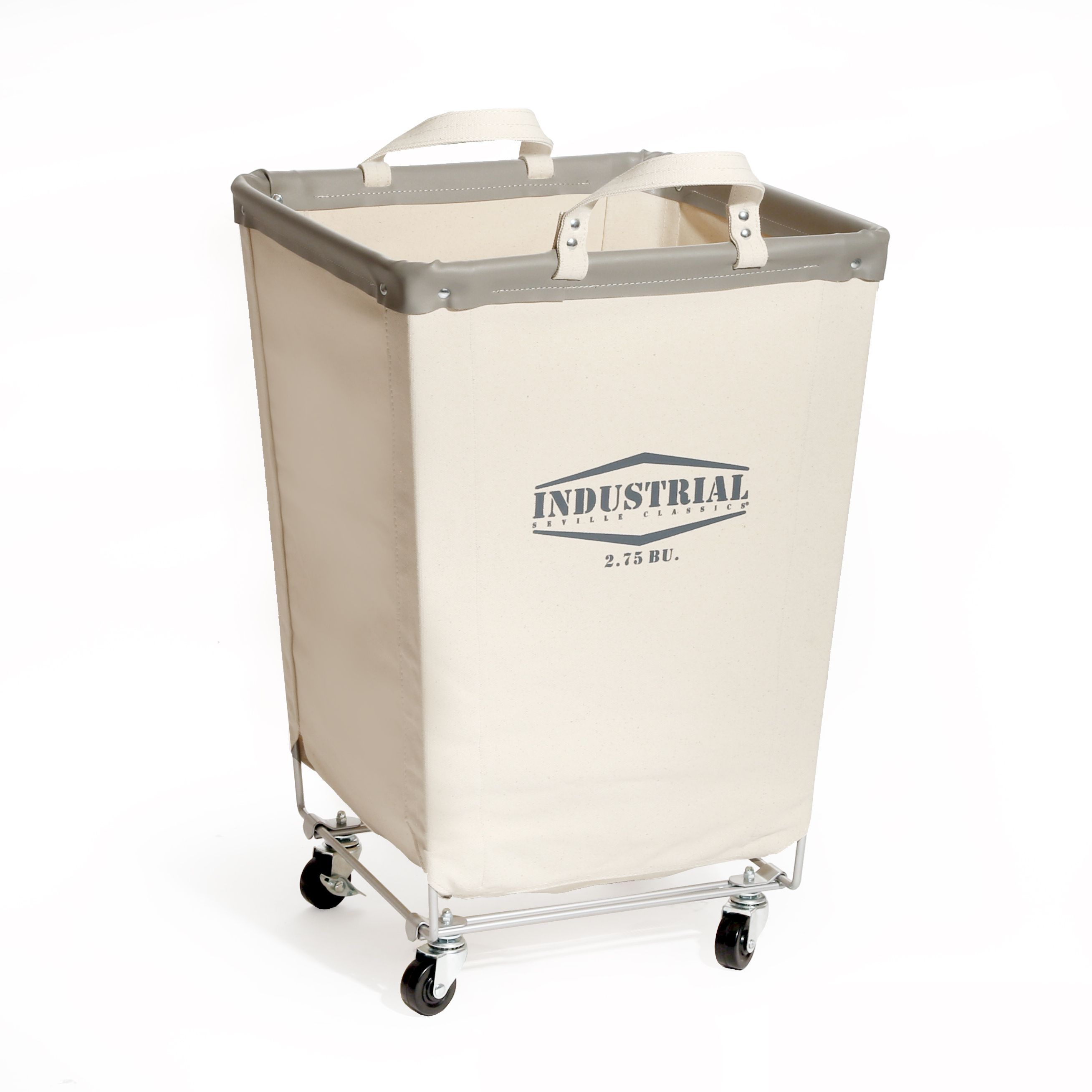 Laundry Bin With Wheels Seville Classics Products Canvas Laundry Hamper
