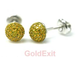 14KT Yellow & White Gold Men\'s Women\'s Diamond Stud Earring - GoldeXit