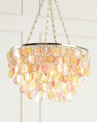 Multi color aurora 3 light chandelier at horchow