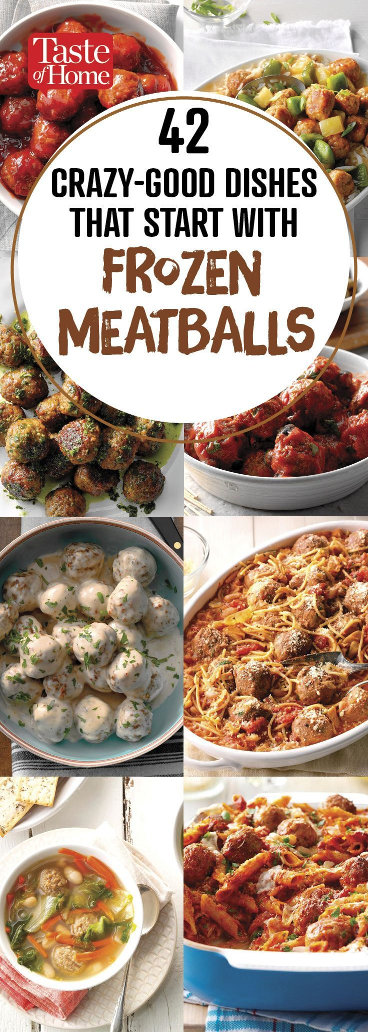 42 Crazy Good Dishes Starring Frozen Meatballs Meatball Recipes Easy Meatball Dinner Meatball Recipes Crockpot