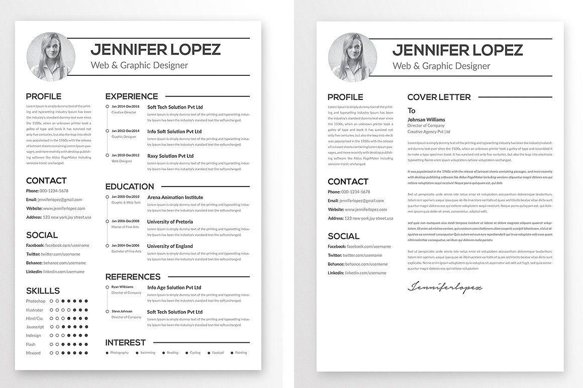 Clean Resume Template Clean resume template, Clean