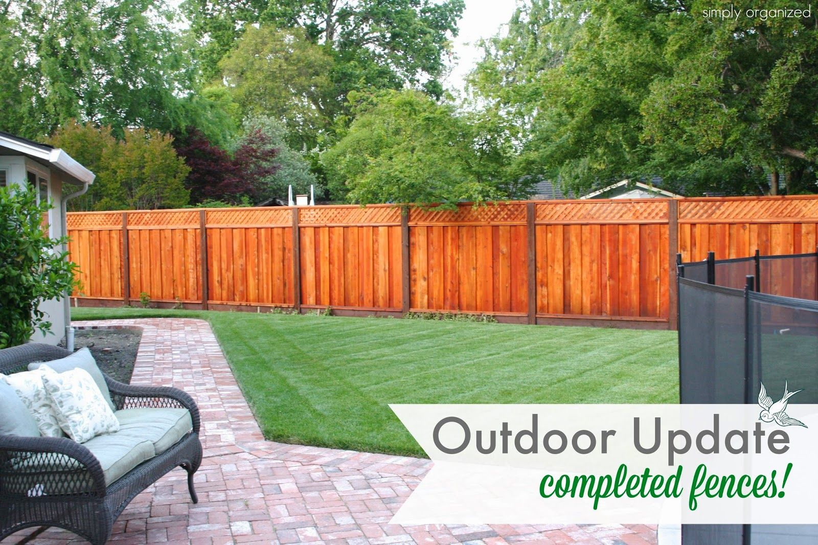 simply organized: Outdoor Update: Fences Are Complete ...