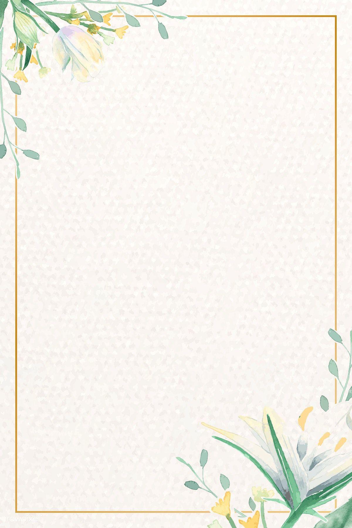 Download Premium Vector Of Vintage Watercolor Floral Card Template