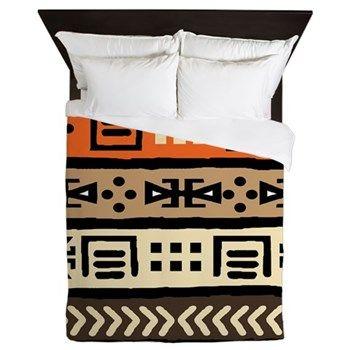Shango Tribal Pattern Queen Duvet $158.54