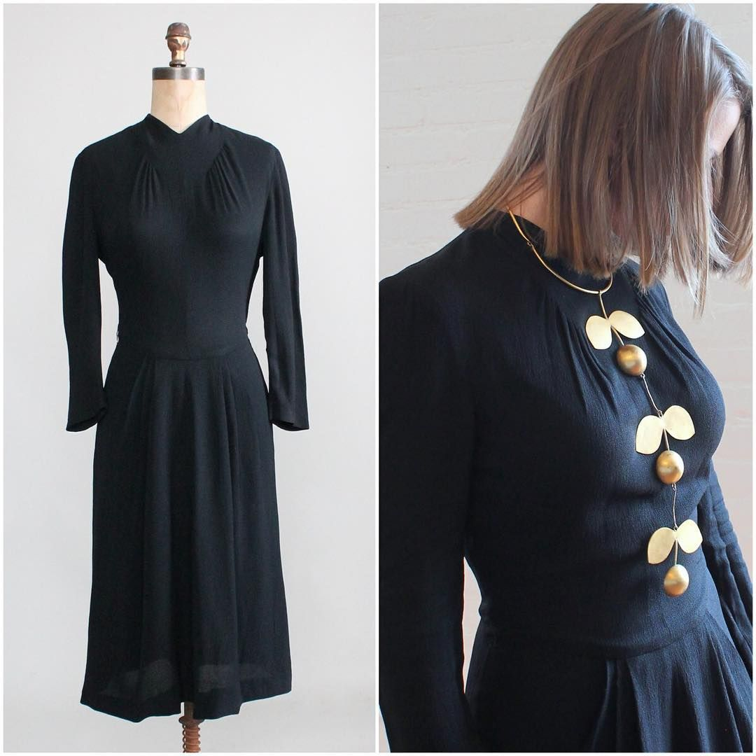 Vintage Wedding Dresses Raleigh Nc: «This Simple Black 1940s Dress Pairs So Nicely With