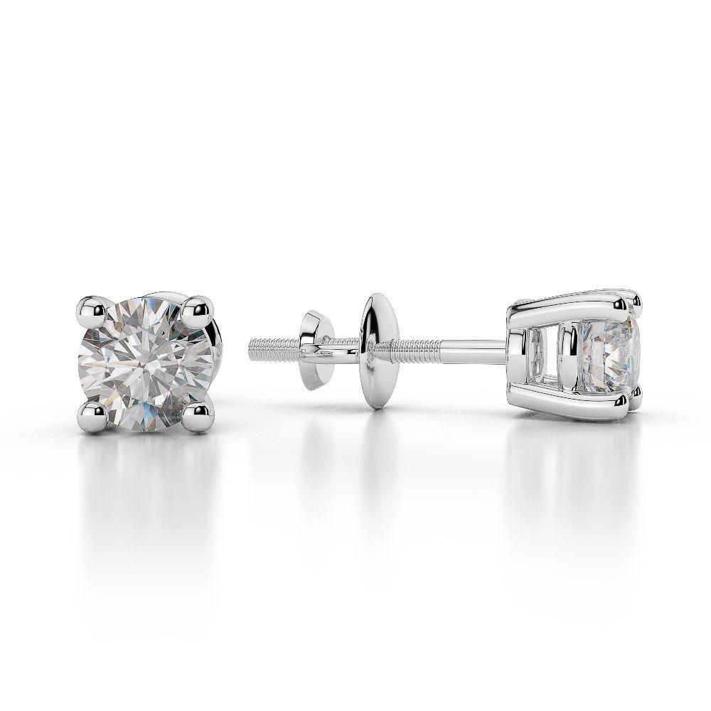 White Gold Round Diamond Stud Earrings Ager 1009 Ag Sons Uk Ltd