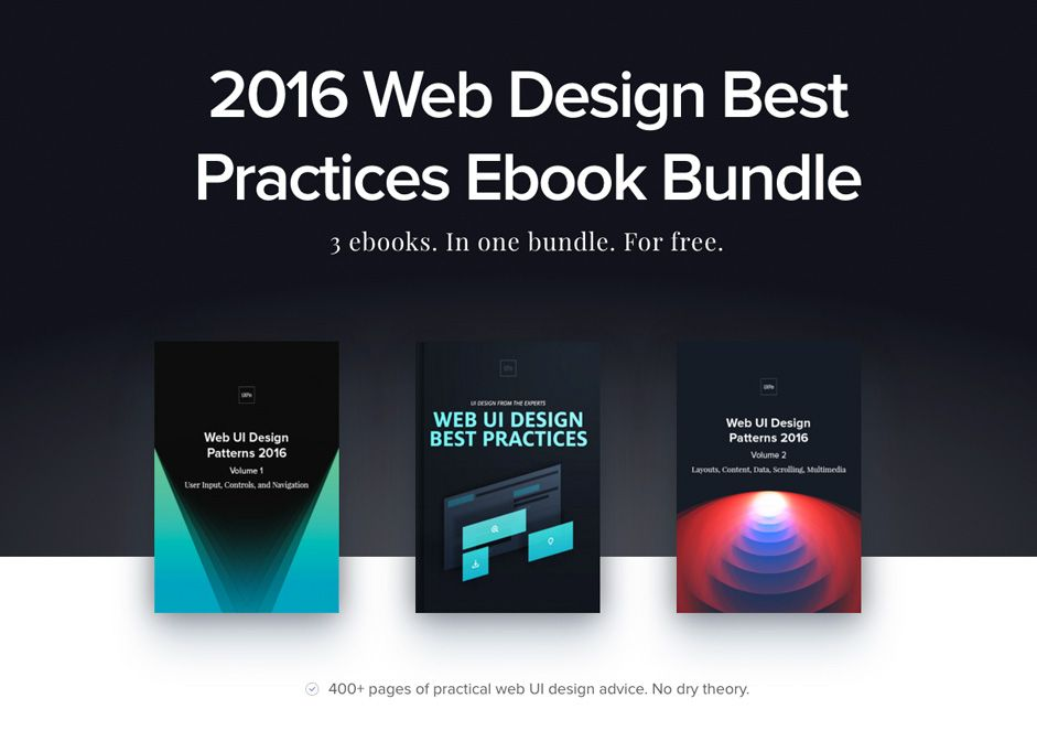 best ui design 2016 3 Free e-Books: 2016 Web Design Best Practices Bundle | Website designs