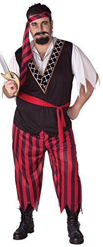 Forum Novelties Mens Pirate Costume RedBlack Plus Size u003eu003eu003e Click image to review more details. | Pirate Costume | Pinterest  sc 1 st  Pinterest & Forum Novelties Mens Pirate Costume RedBlack Plus Size u003eu003eu003e Click ...