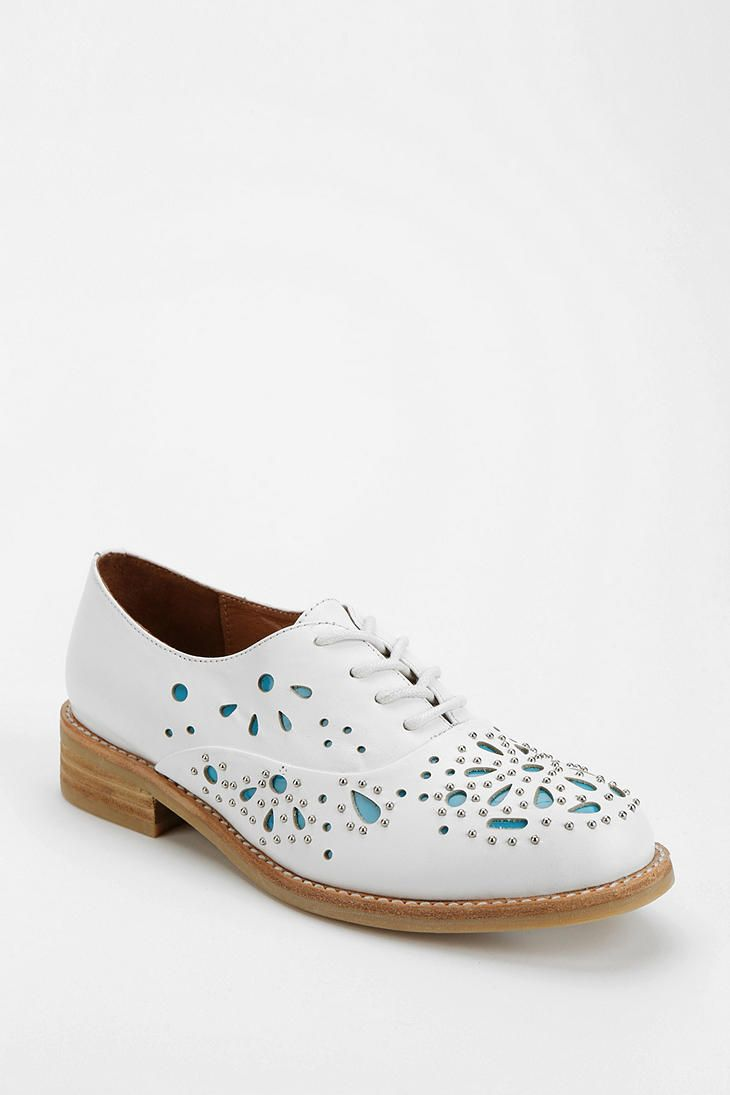 free shipping outlet low price Jeffrey Campbell Jeffrey Campbell Danica Oxford Leather Shoes White cheap sale visit buy cheap original SvdHXeB