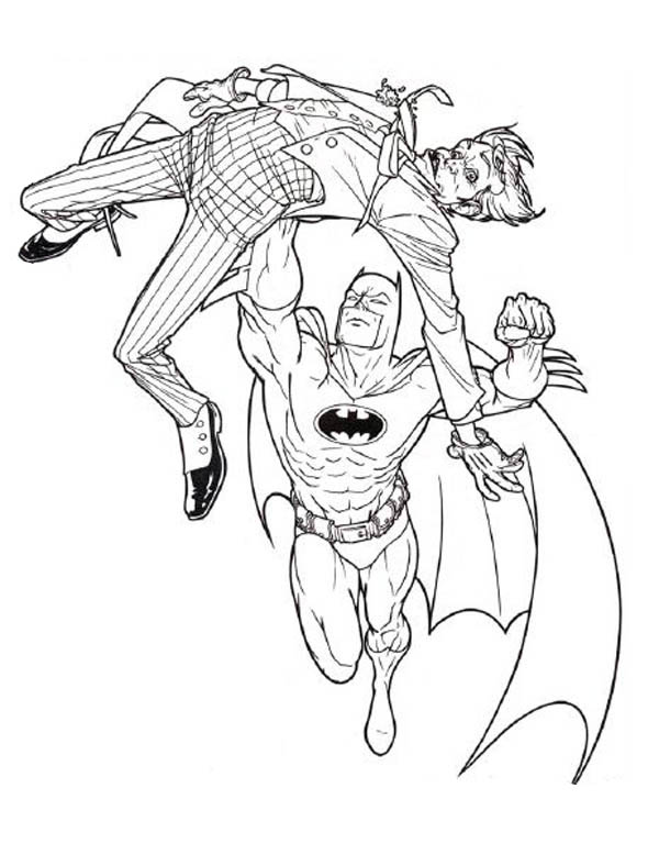 Batman And Joker Coloring Pages : batman, joker, coloring, pages, Joker, Coloring