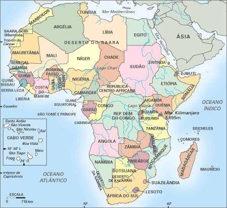 Informacion E Imagenes Con Mapas De Africa Y Paises Fisicos