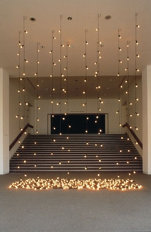 Dress up a plain room for a or reception with hanging lights
