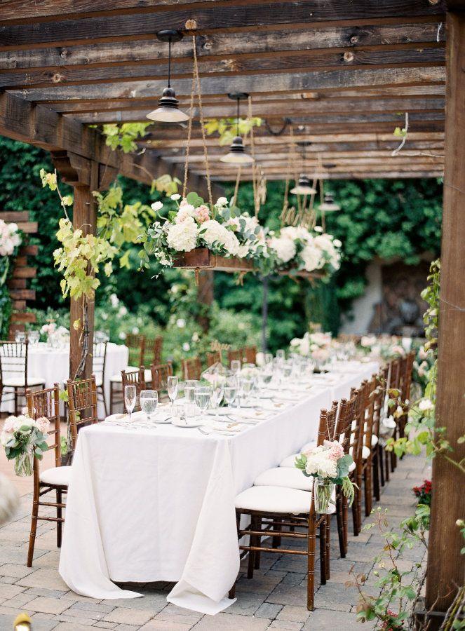 18 Fall Wedding Decor Ideas for Your Head Table  |Outdoor Wedding Reception Head Table