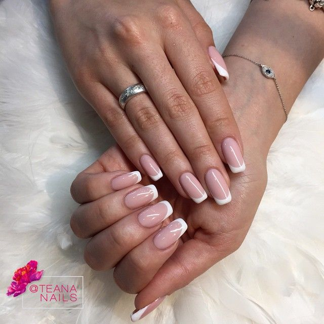 Free Manicure Beauty Hands Makeover: Russian French 😌 #artwork #bling #naillover #nails