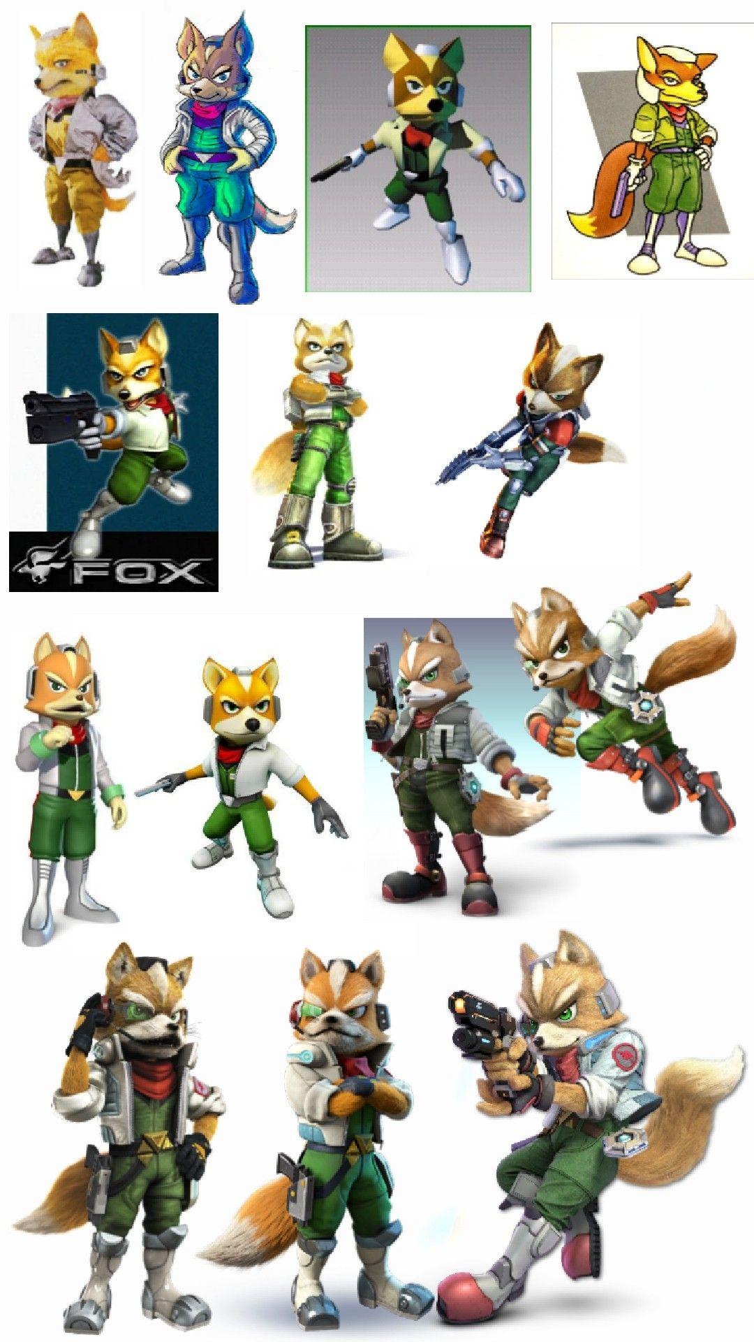 Fox McCloud evolution   Super smash bros   Star fox, Fox
