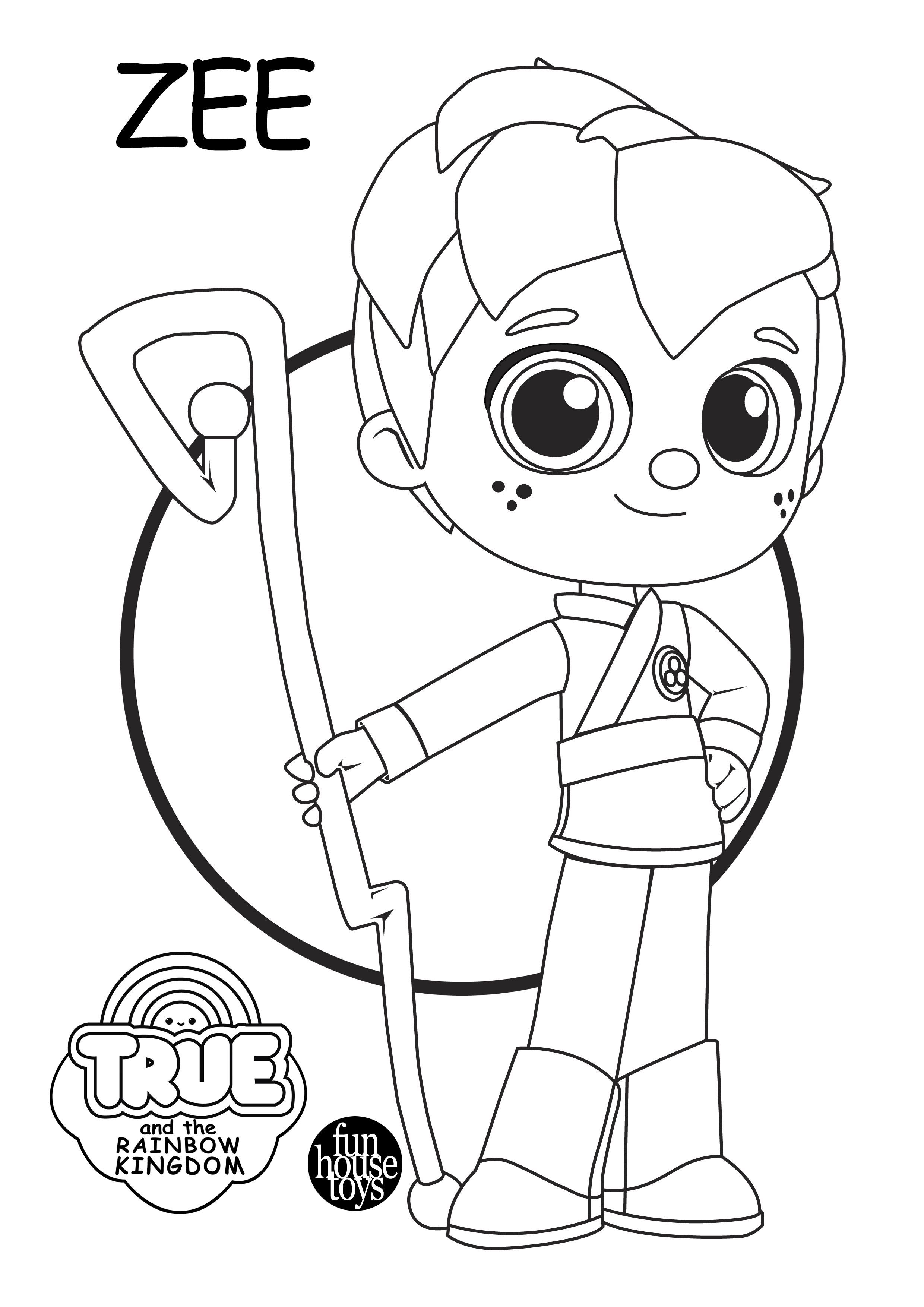 Zee From True And The Rainbow Kingdom Learn Colors While Coloring Character S From True And The Rain Bday Party Kids Rainbow Baby Birthday Third Birthday Girl