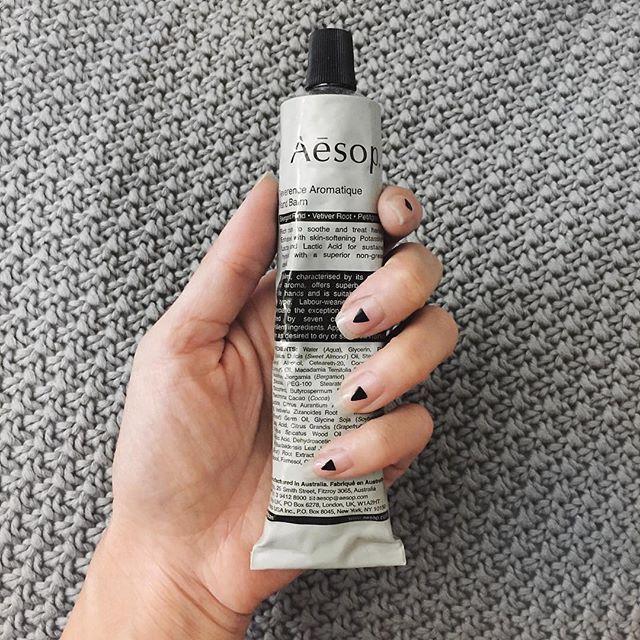 "@behindseams treating her hands with ""Resurrection Aromatique Hand Balm"" from AESOP.  #aesop #nontoxic #handcream #cremaparamanos #naturalcosmetic #cosmeticanatural #livethelittlethings vegan #vegancosmetic #crueltyfree #libresdecrueldad #beautyblogger #bbloggers #beautyaddict #mallorcablogs #palma #mallorca #mallorcastyle #luxmallorca #lifestyle #estilodevida #estilo #luxurylife #instabeauty #beautyfaves #nails #manicure #lifestyleblogger #sileandtherabbit"