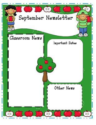 Monthly Editable Newsletter Templates Teacher Tips Pinterest - Free editable newsletter templates for teachers