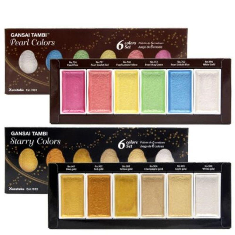 Details Starry Pearl Gem Color Watercolor Paint Solid Color