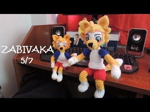 Amigurumi Gato Negro : Zabivaka lobo mascota mundial 2018 amigurumi crochet parte 1 7