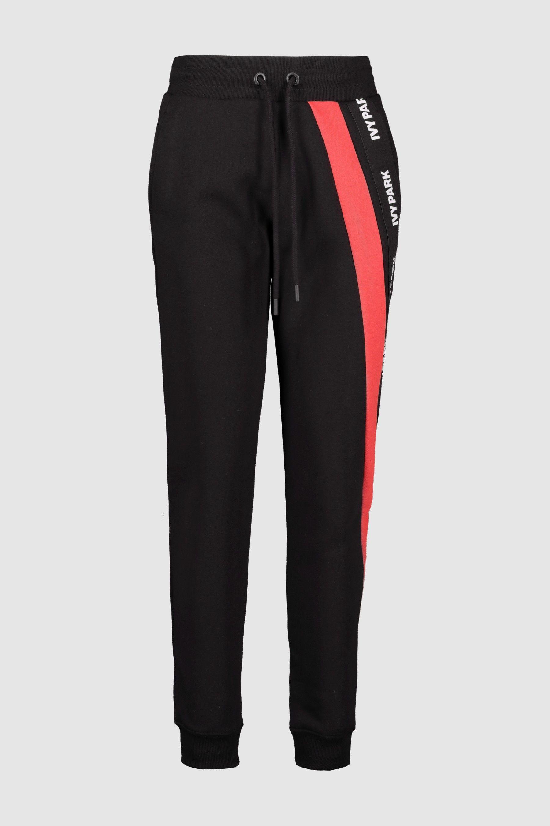 a79bce741f5d27 Womens Ivy Park Black Asymmetric Jogger - Black | Products | Ivy ...