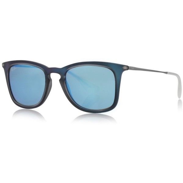 Ray-Ban Sunglasses - RB 0Rb 4221 50 617055 - in blue - Sunglasses for... ($120) ❤ liked on Polyvore featuring accessories, eyewear, sunglasses, blue, mirrored sunglasses, wayfarer sunglasses, blue wayfarer sunglasses, blue sunglasses and mirrored aviator sunglasses