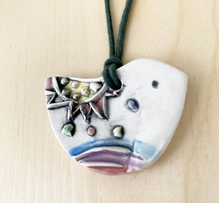 Ceramic unique style essential oil diffusing bird necklace for aromatherapy meditation celebration or casual wear