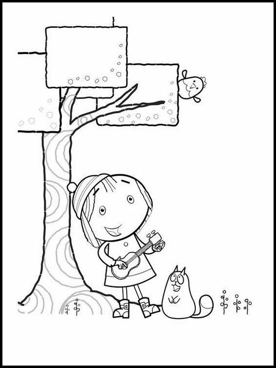 Desenhos para colorir para crianças para imprimir Peg Cat 3 ...